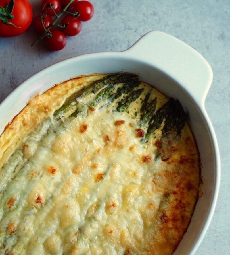 Spargel mit Parmesan überbacken