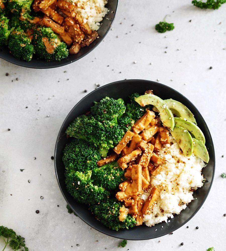 Vegane Low Carb Bowl